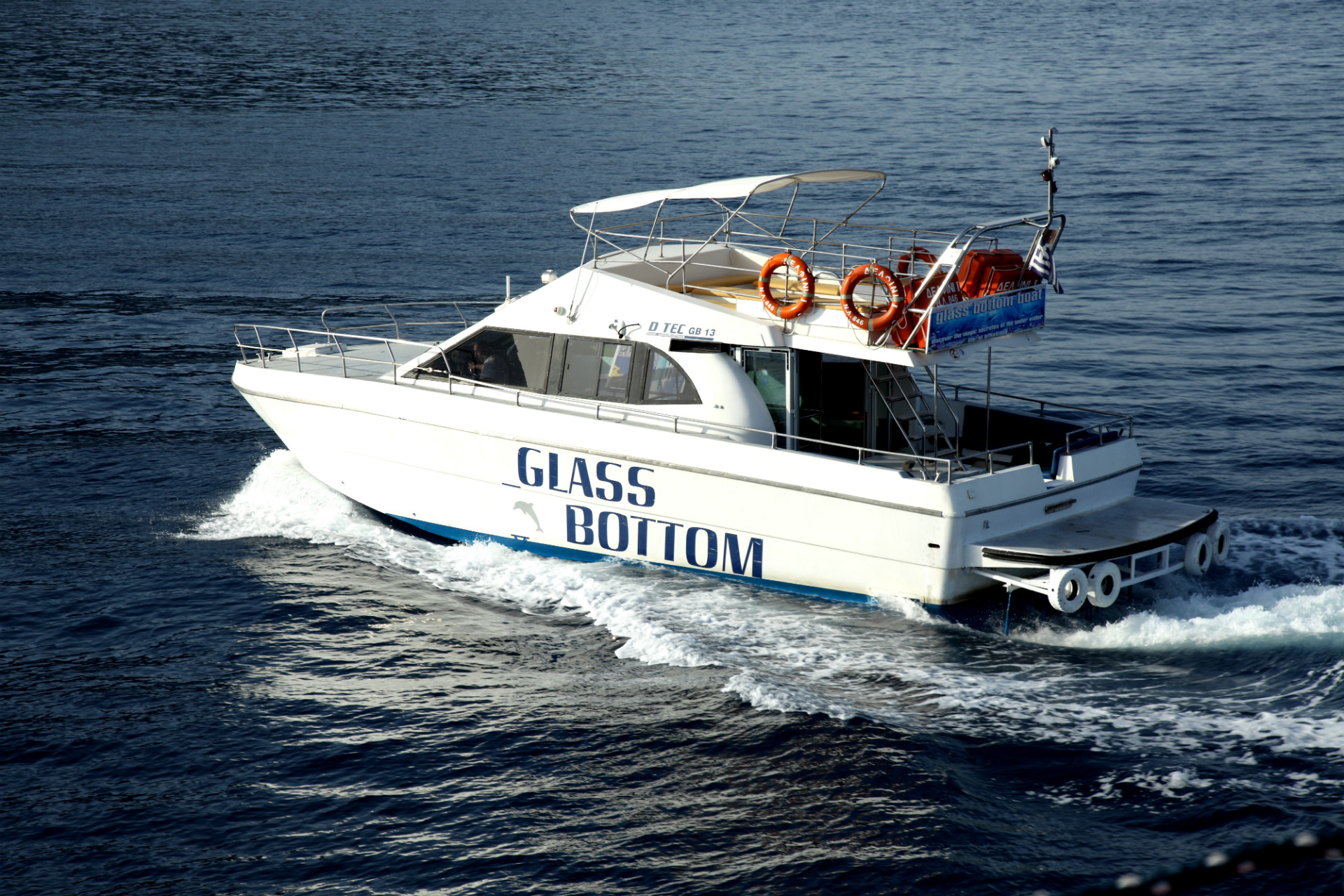 Glass Bottom outside Seven Islands Cruises Lefkas Cruises lefkascruises Κρουαζιέρες Λευκάδα