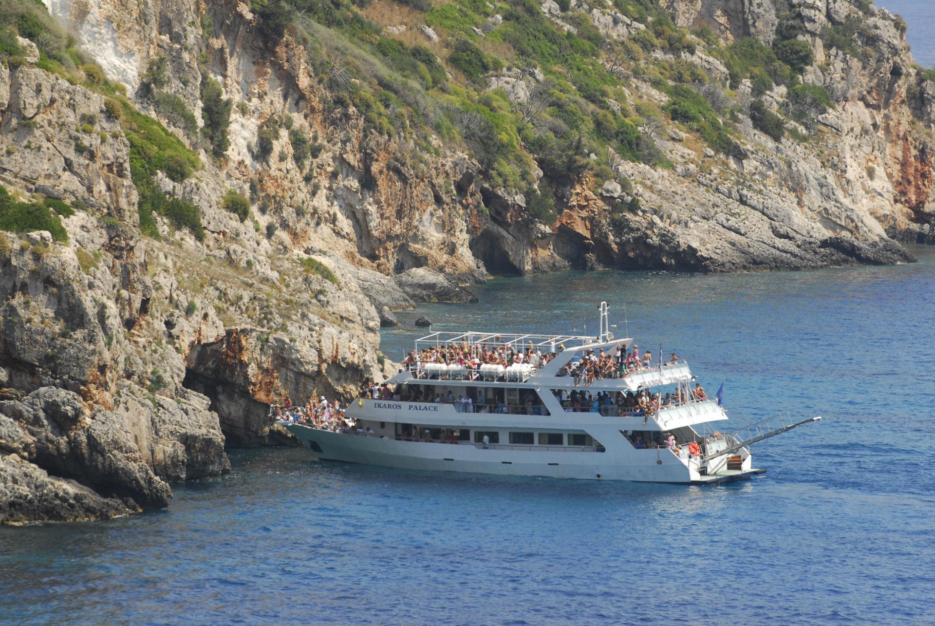 Zakynthos Cruise blue caves Ikaros Palace Seven Islands Cruises Κρουαζιερες Λευκάδας